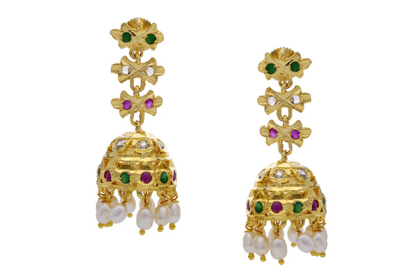 Pearl Jhumkha Earrings - CHTE25AG266
