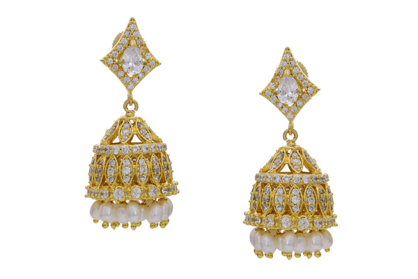 Pearl Jhumkha Earrings - CHTE25AG268