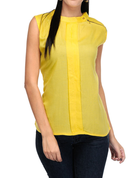 Western Street Style Tops From Surat In Yellow - OPWTI27FBY18