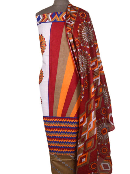 Pakistani Print Suit In Multi Color - TPKKS10D17