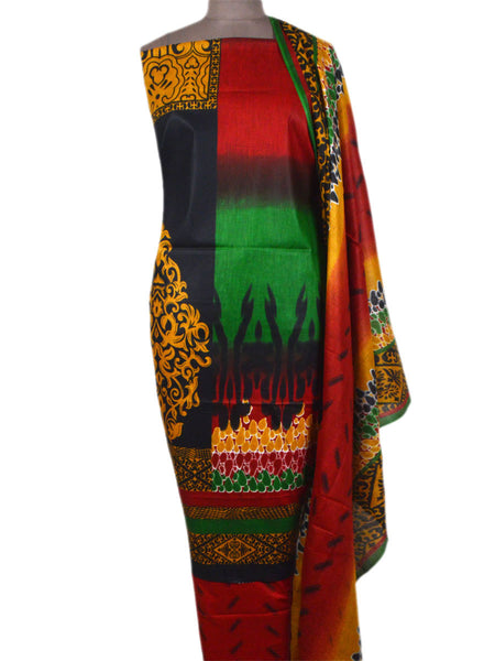 Pakistani Print Suit In Multi Color - TPKKS10D39