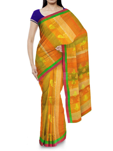 Kota Doria Handloom Saree From Kota In Multicolor - IW-PKRSA2AG4