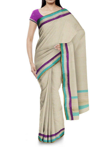 Kota Doria Handloom Saree From Kota In Off White - IW-PKRSA2AG8