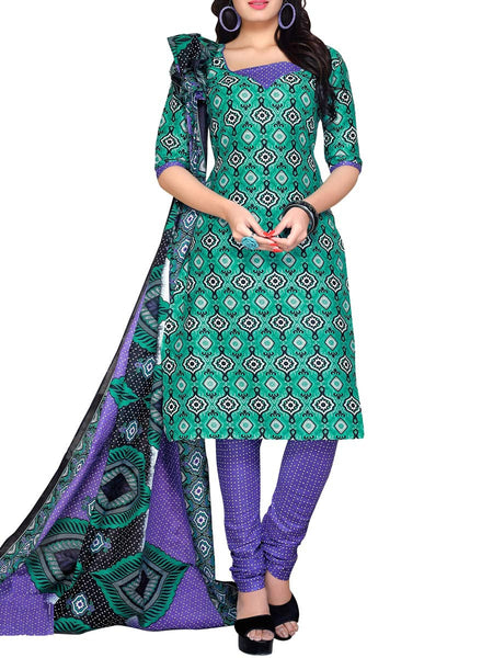 Cotton Suit From Kolkata In MultiColour - FPKWA16JN132