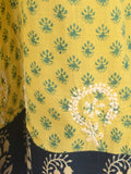 Chikankari Embroidered Fusion skirts from Lucknow In Yellow - VD-APLUS19JLY10