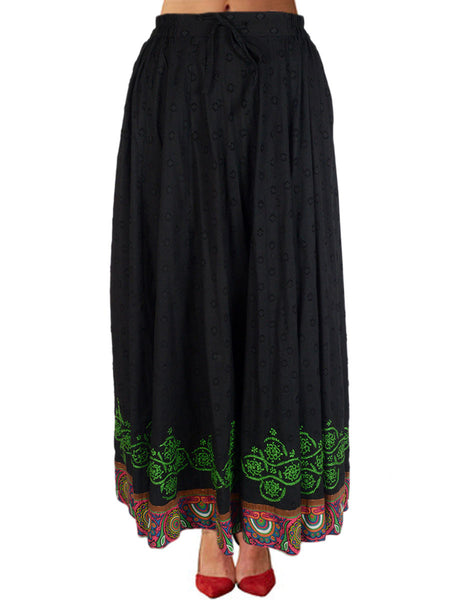Chikankari Embroidered Fusion skirts from Lucknow In Black - VD-APLUS19JLY19