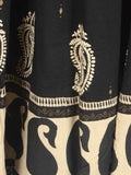 Chikankari Embroidered Fusion skirts from Lucknow In Black - VD-APLUS19JLY1