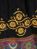 Chikankari Embroidered Fusion skirts from Lucknow In Black - VD-APLUS19JLY4