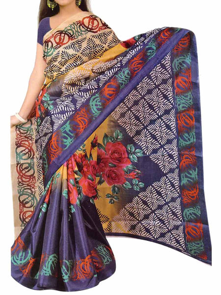 Bhagalpuri Silk Saree In MultiColour - VA-KBSA3MY7
