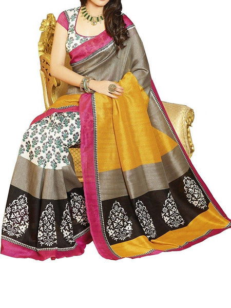 MultiColour Bhagalpuri Saree - VA-KBSA7FB25