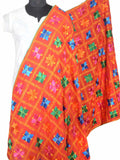 Phulkari Dupatta In Orange - VP-CPD26SP6