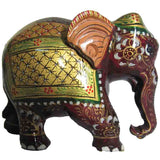 Printed Elephant Wood Handicraft-EC-HJRWE4F9