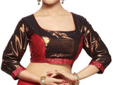 West Bengal Semi Stitch Party Wear Blouse In Copper & Red - PWBBI20OCT22