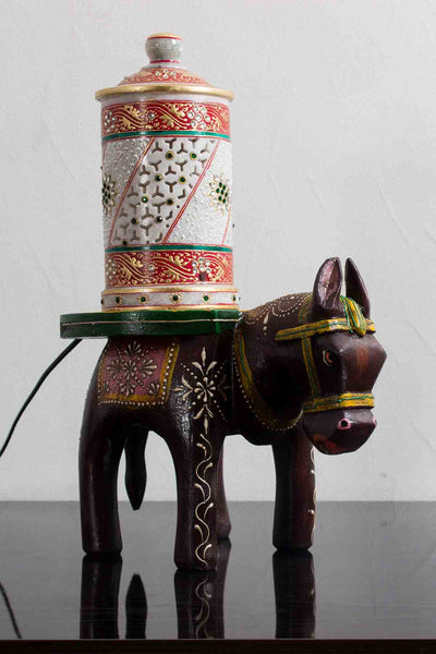 Multutility Wooden Horse Stool for Decoratives - EC-HJRWE3AG276