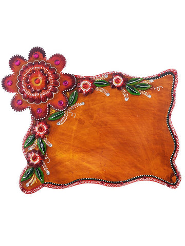 Decorative Flower Papier-Mache Wooden Nameplate - EC-HJRME24MA346