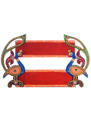 Peacock Shape Decorative Wooden Nameplate - EC-HJRME24MA347