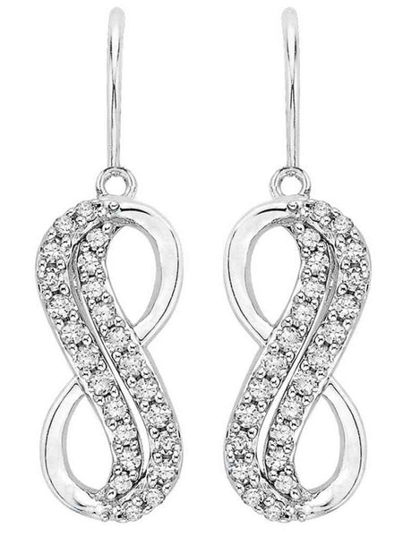 92.5 Sterling Silver Hangings Earrings With Swarovski Zirconia -ZI-CHUJE25MH5