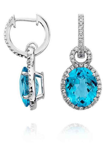 92.5 Sterling Silver Drop Earrings With Swarovski Zirconia -ZI-CHUJE25MH26