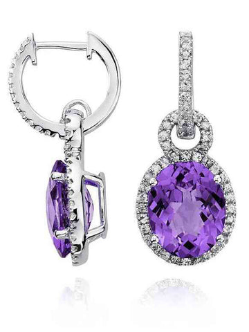 92.5 Sterling Silver Drop Earrings With Swarovski Zirconia -ZI-CHUJE25MH27