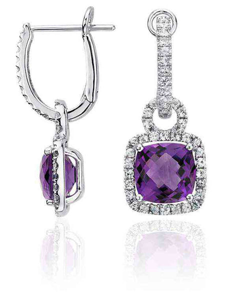 92.5 Sterling Silver Drop Earrings With Swarovski Zirconia -ZI-CHUJE25MH32