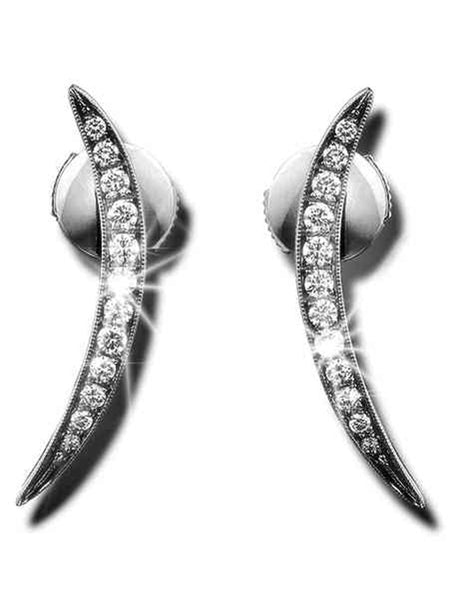 92.5 Sterling Silver Stud Earrings With Swarovski Zirconia -ZI-CHUJE25MH37