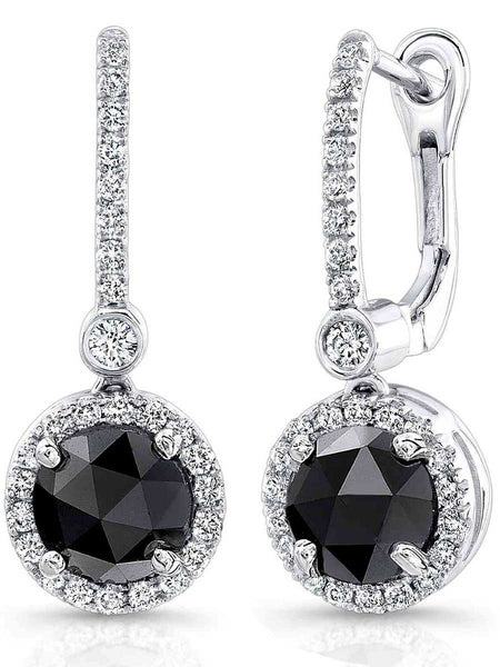 92.5 Sterling Silver Hangings Earrings With Swarovski Zirconia -ZI-CHUJE25MH46