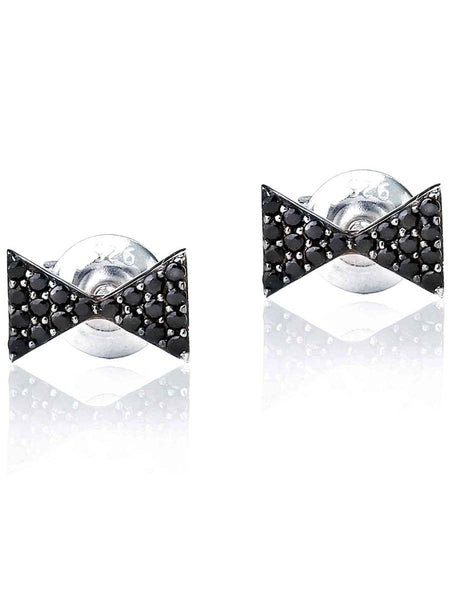 92.5 Sterling Silver Stud Earrings With Swarovski Zirconia -ZI-CHUJE25MH55
