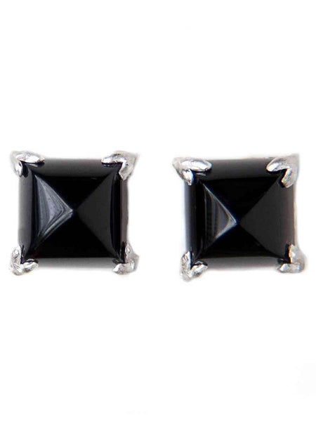 92.5 Sterling Silver Stud Earrings With Swarovski Zirconia -ZI-CHUJE25MH56