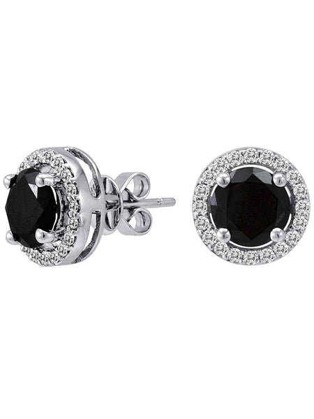 92.5 Sterling Silver Stud Earrings With Swarovski Zirconia -ZI-CHUJE25MH60
