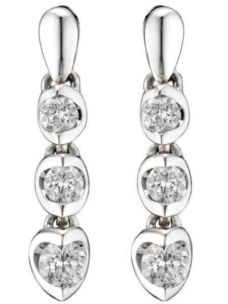 92.5 Sterling Silver Hangings Earrings With Swarovski Zirconia -ZI-CHUJE25MH61