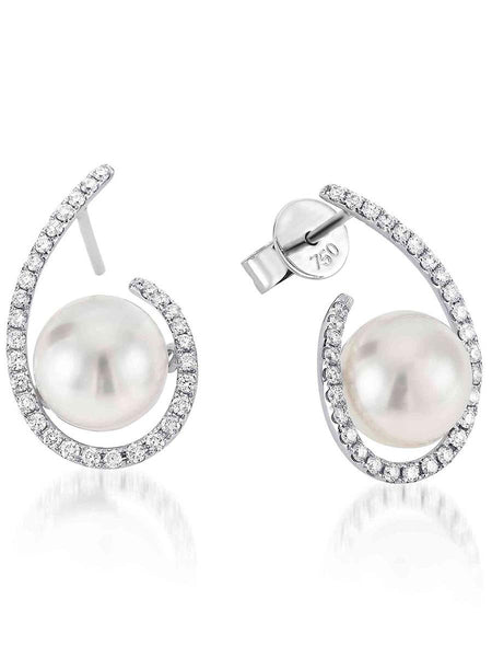 92.5 Sterling Silver Stud Earrings With Swarovski Zirconia -ZI-CHUJE25MH65