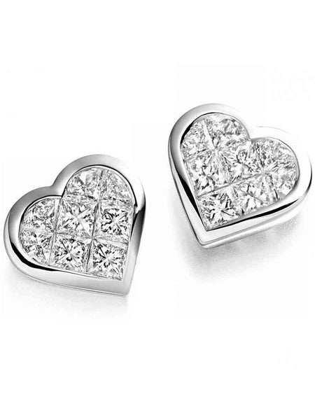 92.5 Sterling Silver Stud Earrings With Swarovski Zirconia -ZI-CHUJE25MH97
