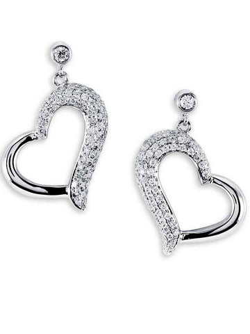 92.5 Sterling Silver Drop Earrings With Swarovski Zirconia -ZI-CHUJE25MH104