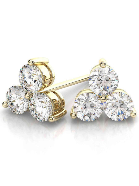 92.5 Sterling Silver Stud Earrings With Swarovski Zirconia -ZI-CHUJE25MH108