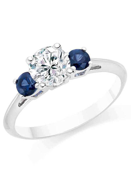 92.5 sterling silver ring made with swarovski Zirconia - ZI-CHUJR29MH186