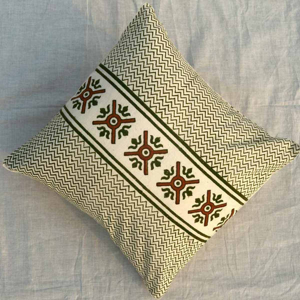 Set of 5 Block Printed Cotton Cushion Cover From Jaipur In MultiColour  - SM-CDDC3MR7