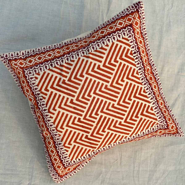 Set of 5 Block Printed Cotton Cushion Cover From Jaipur In MultiColour  - SM-CDDC3MR8
