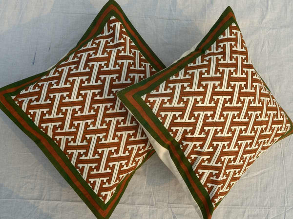 Set of 5 Block Printed Cotton Cushion Cover From Jaipur In  - SM-CDDC3MR29
