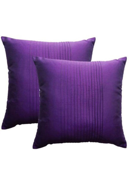 Pack Of 2 Striped Cushions Cover In Purple - DKCC25AP56