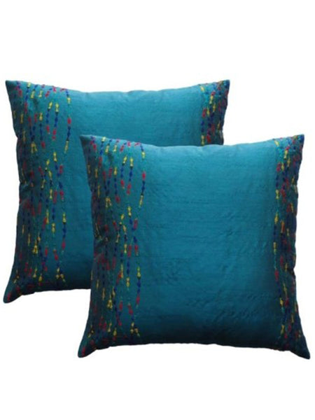 Pack Of 2 Abstract Cushions Cover In Blue - DKCC25AP63