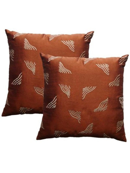 Pack Of 2 Abstract Cushions Cover In Brown - DKCC25AP64