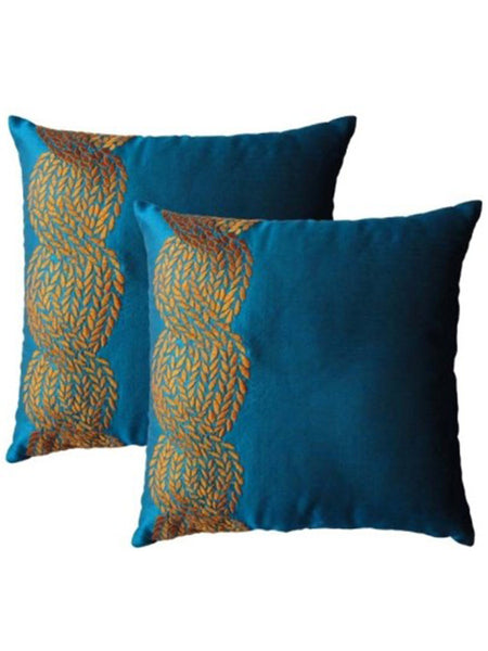 Pack Of 2 Abstract Cushions Cover In Blue - DKCC25AP41