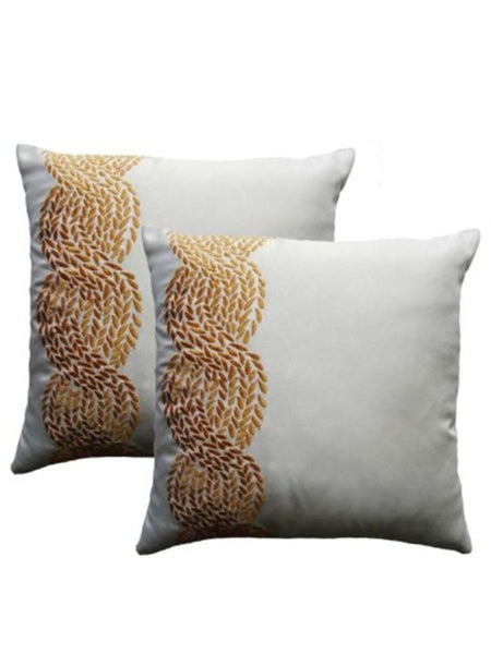 Pack Of 2 Abstract Cushions Cover In White - DKCC25AP73
