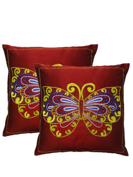 Pack Of 2 Embroidered Cushions Cover In Multicolor - DKCC25AP54