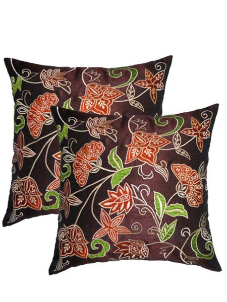 Pack Of 2 Embroidered Cushions Cover In Multicolor - DKCC25AP67