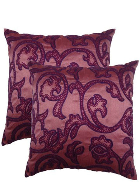 Pack Of 2 Embroidered Cushions Cover In Multicolor - DKCC25AP69