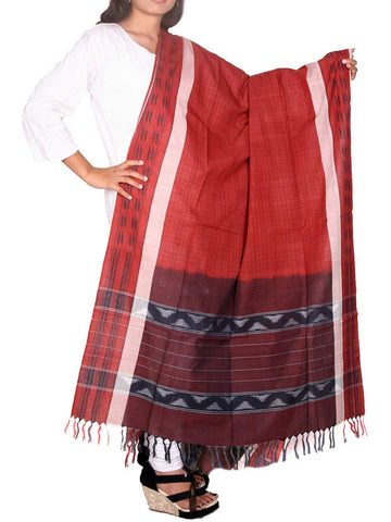 Pochampally Ikat Handloom Cotton Dupatta - GS-CIHD26AG20