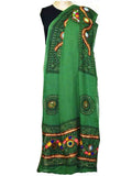 Dark Green Cotton Kutch Embroidery Dupatta (Hand Work) - ND-CPKD4MH2