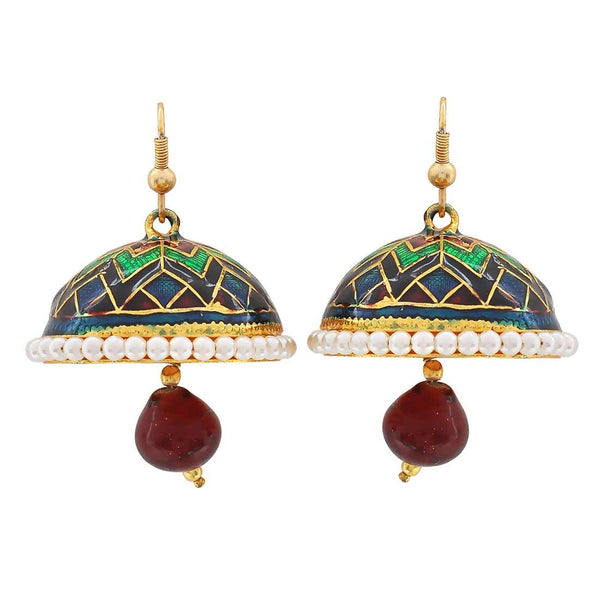 Special Multicolour Meenakari Friend's Party Jhumki Earrings - MCHUJE3DC401