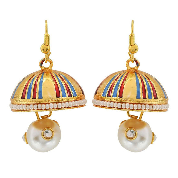 Adorable Multicolour Meenakari Party Jhumki Earrings - MCHUJE3DC407